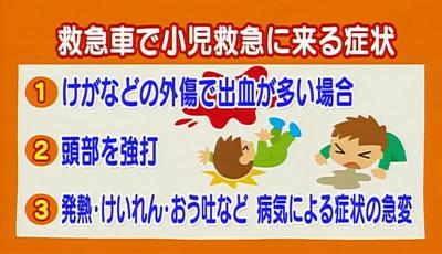 子どもが救急車で小児救急に来る症状
