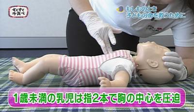 赤ちゃん・子どもの救急法_1歳未満の乳児の圧迫の仕方
