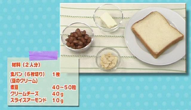 豆のフィンガートースト 材料