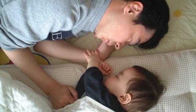 パパも一緒に寝てしまいました