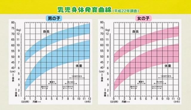 乳児身体発育曲線