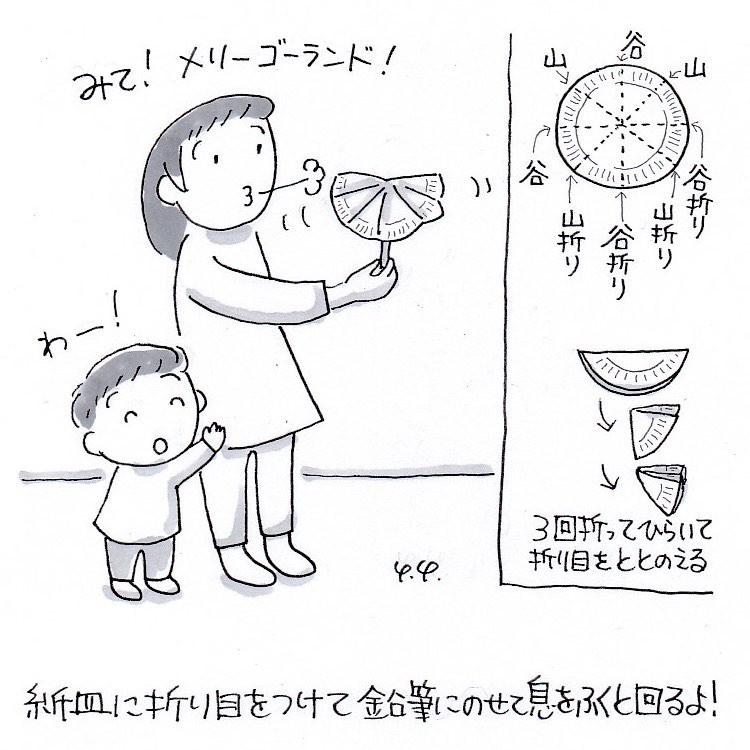 紙皿メリーゴーランド