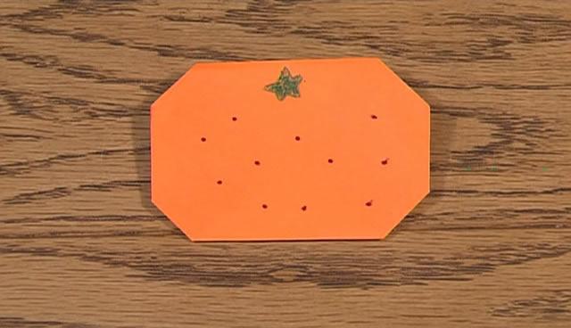 簡単 折り紙 折り紙 みかん : sukusuku.com