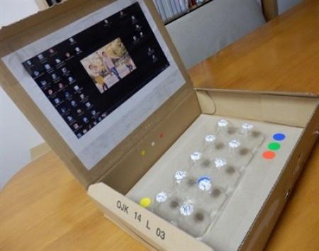 段ボールで子ども用おもちゃ家電!ノートパソコン