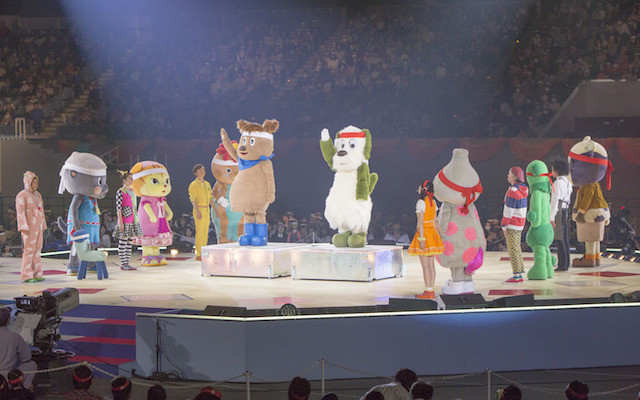 ワンワンといっしょ! 夢のキャラクター大集合 ~真冬の大運動会~のステージの様子1