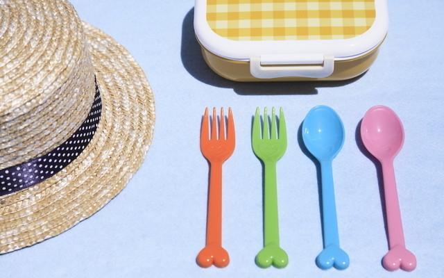 麦わら帽子とお弁当箱