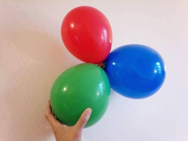 くるくる風船の写真