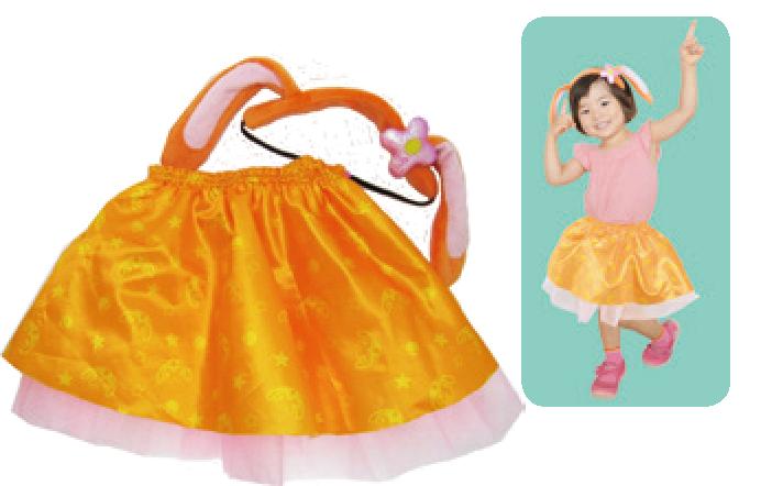 「ガラピコぷ〜」チョロミーだいすき☆スカート&ヘアアクセセット
