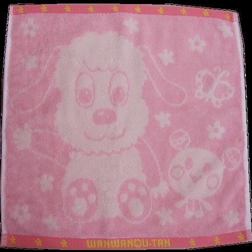 ハンドタオル ちょうちょ ピンク