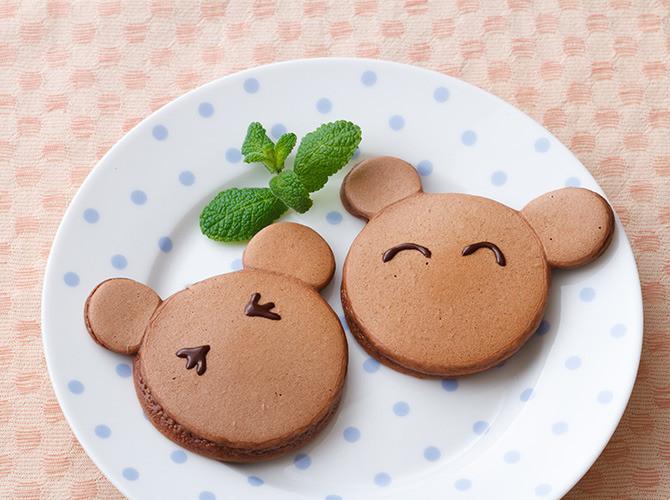 くまちゃんココアホットケーキ