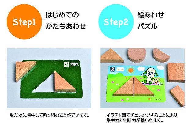 「ワンワンとうーたん」のパズルステップ1