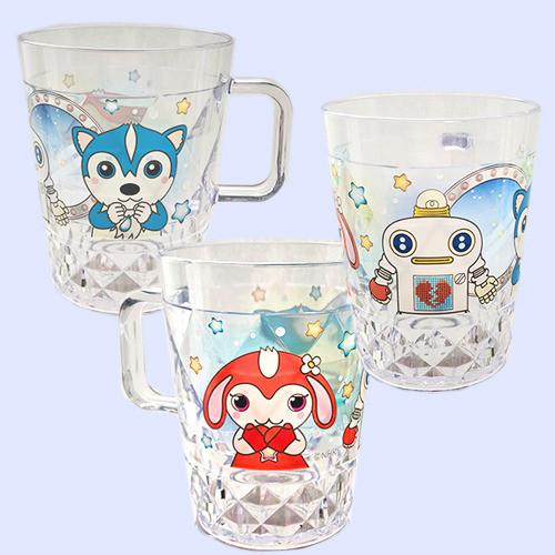 ガラピコぷ~ 持ち手つきカップ ブルー